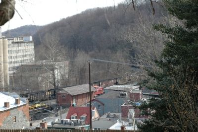 A Coal Train Passes the B&O Freight Office image. Click for full size.
