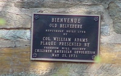 Bienvenue Old Belvedere Plaque image. Click for full size.
