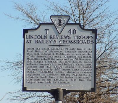 Lincoln Reviews Troops Marker image. Click for full size.