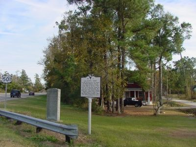 Holliday Highway and Galivants Ferry Markers image. Click for full size.