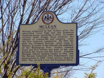 McLean Marker image. Click for full size.
