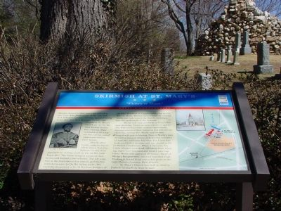Skirmish at St. Mary's Marker image. Click for full size.