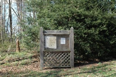 Last Remaining Turner Gravestone and Posted History of the Turner Cemetery image. Click for full size.