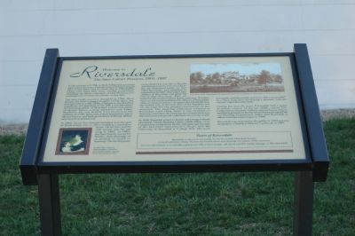 Welcome to Riversdale Marker image. Click for full size.
