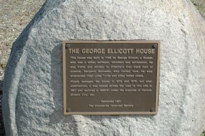 The George Ellicott House Marker image. Click for full size.