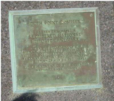 South Point complex Marker image. Click for full size.