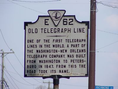 Old Telegraph Line Marker image. Click for full size.