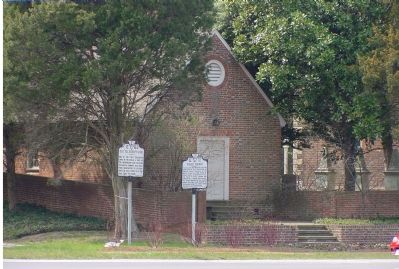 Old Telegraph Line and Pohick Church Markers image. Click for full size.