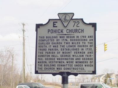 Pohick Church Marker image. Click for full size.