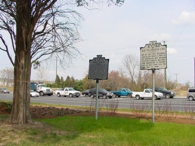 Pohick Church and Old Telegraph Line Markers image. Click for full size.
