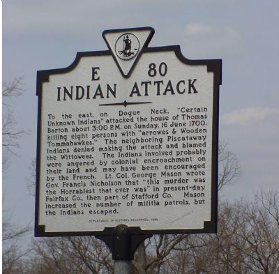Indian Attack Marker image. Click for full size.