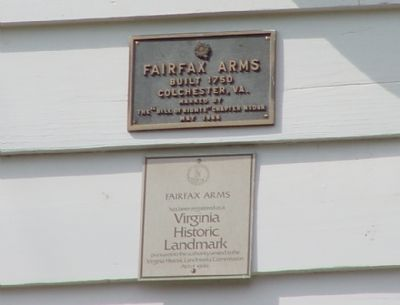 Fairfax Arms Markers image. Click for full size.