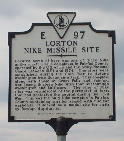 Lorton Nike Missile Site Marker image. Click for full size.