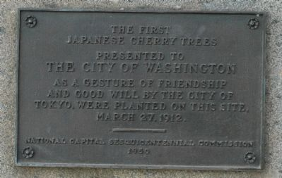 The First Japanese Cherry Trees Marker image. Click for full size.