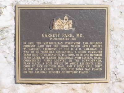Garrett Park, MD. Marker image. Click for full size.