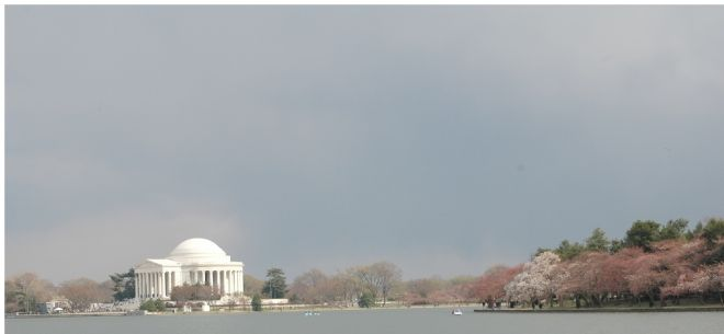 The Jefferson Memorial Across the Tidal Basin image. Click for full size.