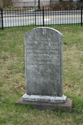 The Gravestone of Samuel Clark Veirs image. Click for full size.