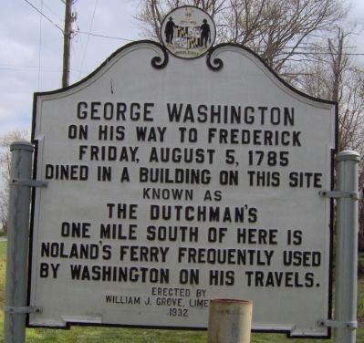 Geo. Washington dined at The Dutchman's. image. Click for full size.