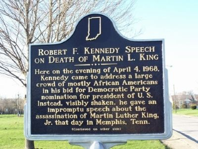 Robert F. Kennedy on Death of Martin L. King Marker image. Click for full size.
