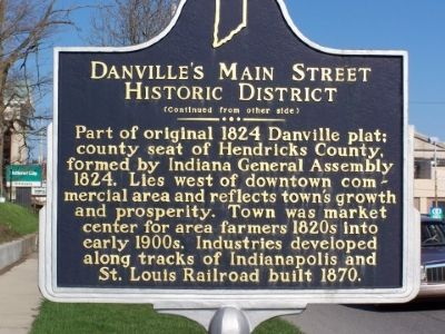 Side Two Danville's Main Street Historic District Marker image. Click for full size.