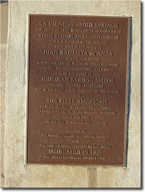 La Cienega Mud Springs Marker image. Click for full size.