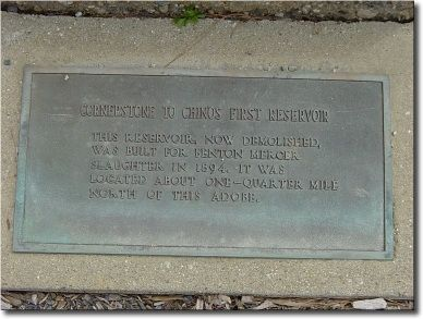 Cornerstone to Chino's First Reservoir Marker image. Click for full size.