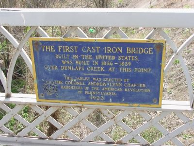The First Cast Iron Bridge Marker image. Click for full size.