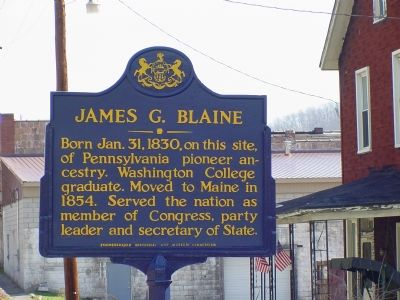 James G. Blaine Marker image. Click for full size.