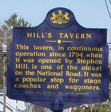 Hill's Tavern Marker image. Click for full size.