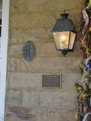 Landmark Plaque to the Right of The Front Door image. Click for full size.