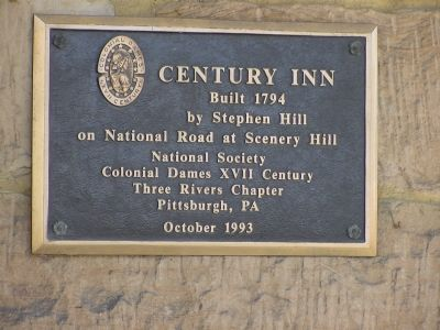 Century Inn Plaque image. Click for full size.