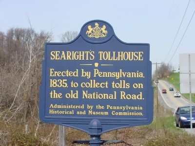 Searight's Tollhouse Marker image. Click for full size.