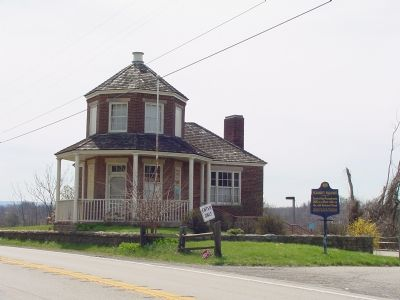Searight's Tollhouse and Marker image. Click for full size.