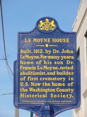 LeMoyne House Marker image. Click for full size.