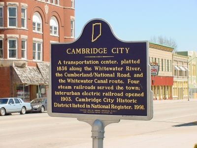 Cambridge City Marker image. Click for full size.