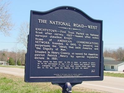 The National Road -- West Marker image. Click for full size.