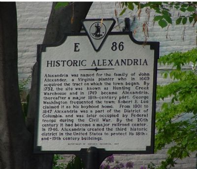 Historic Alexandria Marker image. Click for full size.