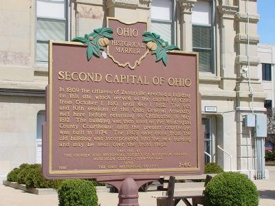 Second Capital of Ohio Marker, Front image. Click for full size.