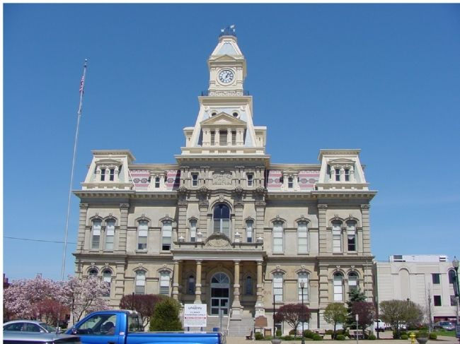 Present Muskingum County Courthouse, Built in 1874. image. Click for full size.