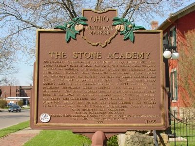 The Stone Academy Marker image. Click for full size.