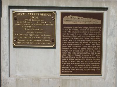 Sixth Street Bridge Marker image. Click for full size.