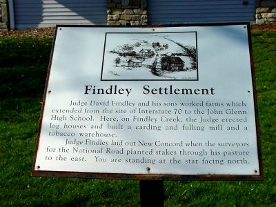 Findley Settlement Marker image. Click for full size.