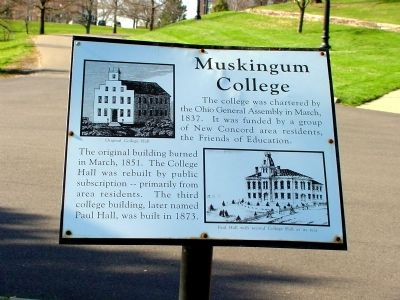 Muskingum College Marker image. Click for full size.
