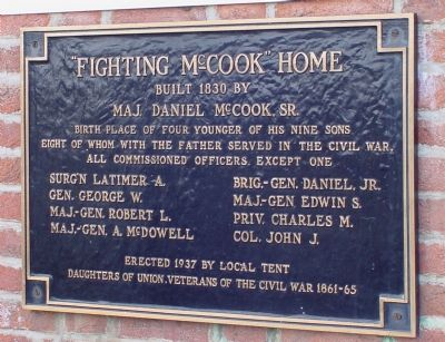 Fighting McCook Home Marker image. Click for full size.