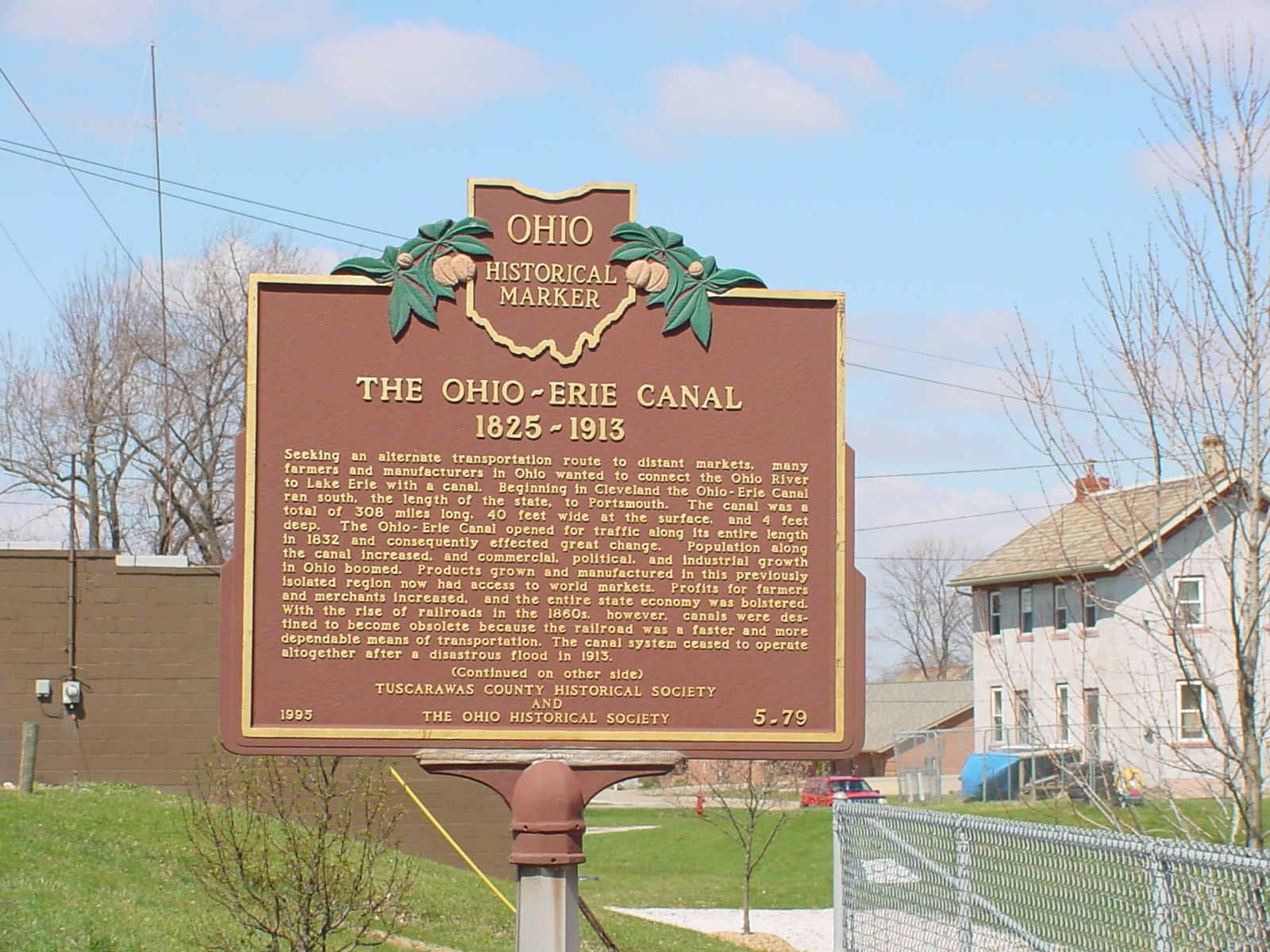 The Ohio-Erie Canal Marker