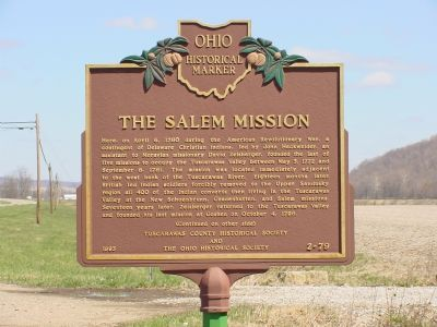 The Salem Mission Marker image. Click for full size.