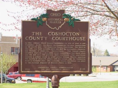 The Coshocton County Courthouse Marker image. Click for full size.