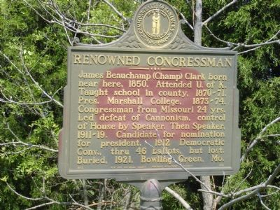 Renowned Congressman Marker image. Click for full size.