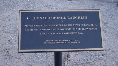 Donald (Don) J. Laughlin Marker image. Click for full size.
