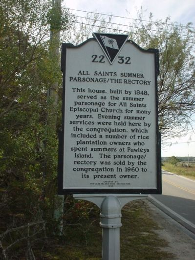 All Saints Summer Parsonage / The Rectory Marker image. Click for full size.